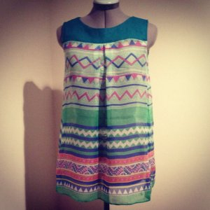 Hmong Green Print shirt top
