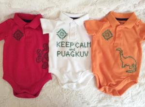 baby clothes hmong cross stitch collar onesies