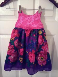 hmogn girl pink purple floral dress