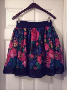 hmong girl floral skirt